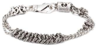 Emanuele Bicocchi Knotted Chain Sterling Silver Bracelet - Mens - Silver