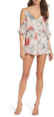 Women's Bardot Cold Shoulder Romper $109 thestylecure.com