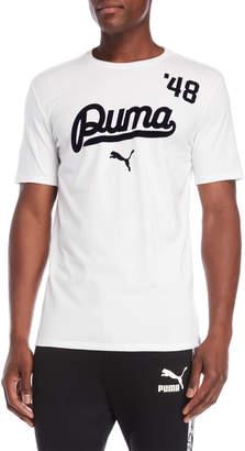 Puma White Logo Racer Tee
