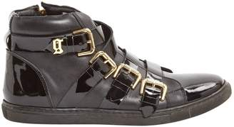 Galliano Leather buckled boots