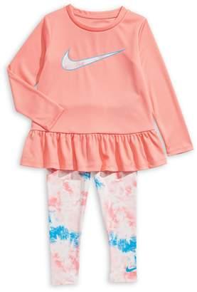 Nike Little Girl's 2-Piece Peplum Tunic Leggings Set