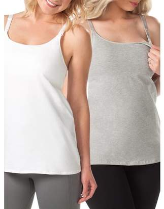 8dc4b59b318 Loving Moments by Leading Lady Maternity Nursing Cami with Built-In Shelf  Bra 2 Pack