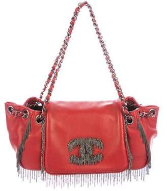 Chanel Chain Fringe Accordion Flap Bag w/ Tags