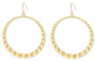 Women's Steve Madden Studded Hoop Earrings $20 thestylecure.com