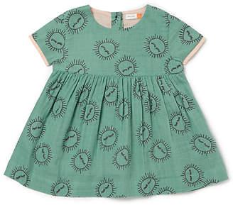 John Lewis Organic Cotton Sun Print Dress, Green