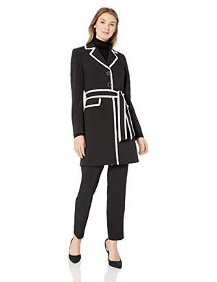c699aad664fb0 Le Suit Women s 3 Button Notch Collar JKT W TIE Belt and Matching Pant