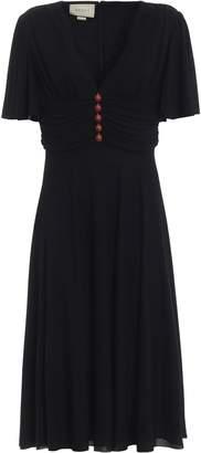 Gucci Ladybug Embellished Flared Dress