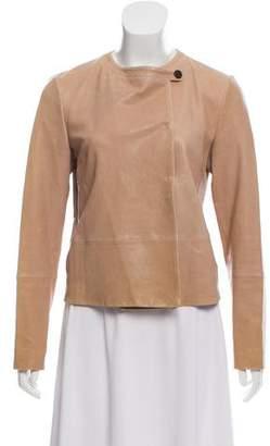 Brunello Cucinelli Leather Evening Jacket