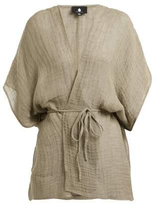 Su - Kaani Linen Blend Cover Up - Womens - Khaki