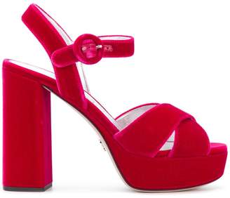 Prada open-tope platform sandals