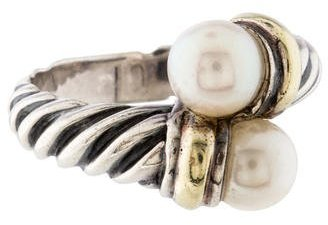 David Yurman Cable Pearl Bypass Ring $325 thestylecure.com