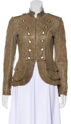 Dolce & Gabbana Leather Collared Jacket
