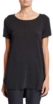 Eileen Fisher Short-Sleeve High-Low Lyocell Top