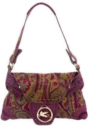 Etro Paisley Suede Shoulder Bag