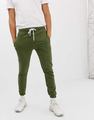 Pull&Bear slim fit jogger two-piece in khaki