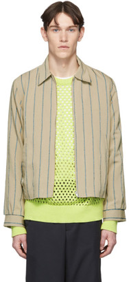 Hope Beige and Blue Striped Fifty Shirt Jacket