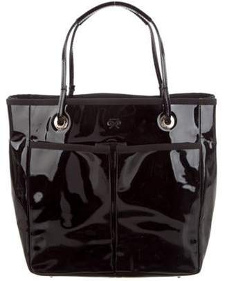 Anya Hindmarch Patent Leather Tote Black Patent Leather Tote