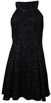 Betsy & Adam Women's Beaded Neck Halter Sequin Aline Dress $99.99 thestylecure.com
