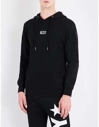 Boy London Eagle-print cotton-jersey hoody
