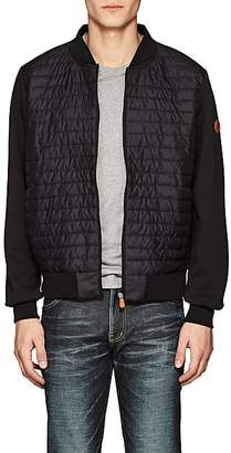 Save The Duck SAVE THE DUCK MEN'S JERSEY-BACK CHANNEL-QUILTED BASEBALL JACKET - BLACK SIZE L