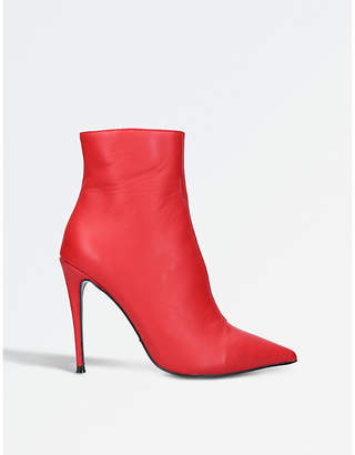 Kurt Geiger London Ladies Red Ride Stiletto Ankle Boots