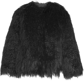 Theory - Elstana Faux Shearling Jacket - Black $455 thestylecure.com