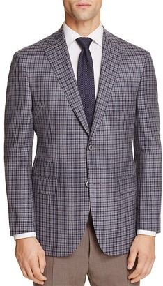 Jack Victor Loro Piana Grid Check Classic Fit Sport Coat - 100% Exclusive $695 thestylecure.com