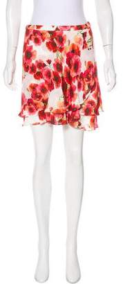 Haute Hippie Silk Floral Skirt