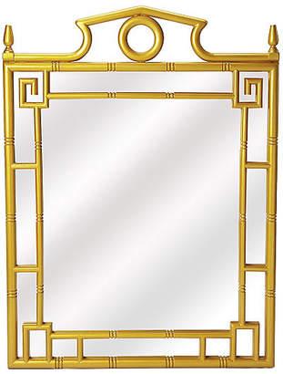 One Kings Lane Pagoda Wall Mirror - Pearl Gold