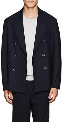 Barena Venezia Men's Plain-Weave Double-Breasted Sportcoat - Navy