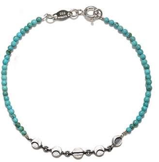 Satya Jewelry Women's Turquoise Silver Moon Phase Bracelet