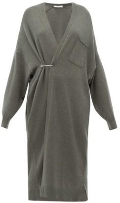 Extreme Cashmere - No. 61 Koto Long Line Cashmere Blend Cardigan - Womens - Khaki