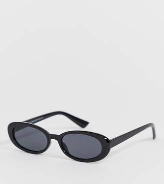 New Look oval sunglasses in black