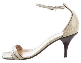 Hermes Crocodile Crossover Sandals