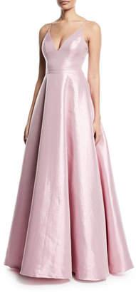 Jovani Taffeta Slip Gown w/ Swing Skirt