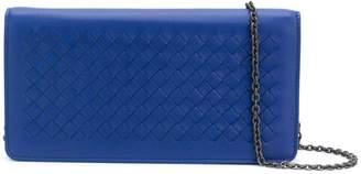 Bottega Veneta cobalt Intrecciato nappa continental wallet