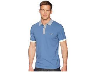 Fred Perry Stripe Collar Pique Shirt Men's Clothing