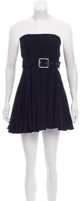 John Galliano Strapless Pleated Dress