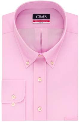 Chaps Big & Tall Regular-Fit Herringbone Wrinkle-Free Dress Shirt