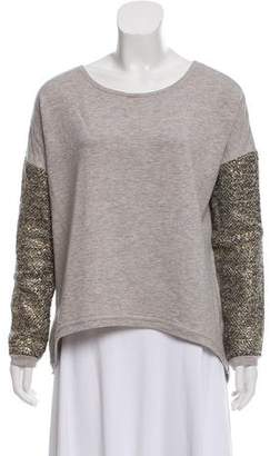 Generation Love Metallic Accented Knit Sweater