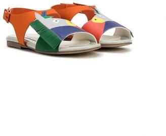 Stella McCartney pony design sandals