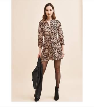 Dynamite Long Sleeve Shirtdress - FINAL SALE Pink Cheetah Print