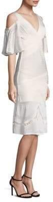 Herve Leger Cold-Shoulder Dress