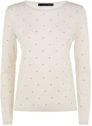 Max Mara Crystal Embellished Sweater