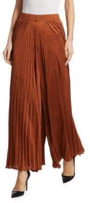 Elizabeth and James Pleated Wide-Leg Pants