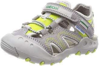 Geox Boy's JR Sandal Kyle BOY Athletic Sandals, Black/Sky