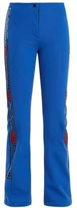 Fendi Side Stripe Kick Flare Ski Trousers - Womens - Blue