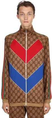 Gucci Gg Supreme Logo Zip-Up Jacket