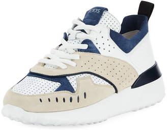 Tod's Mixed Platform Running Sneaker