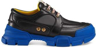 Gucci Leather and nylon lace-up shoe